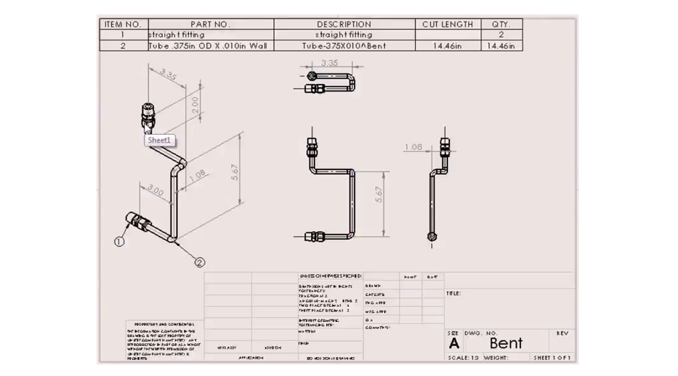 Training mysolidworks tubing drawings ccuart Choice Image